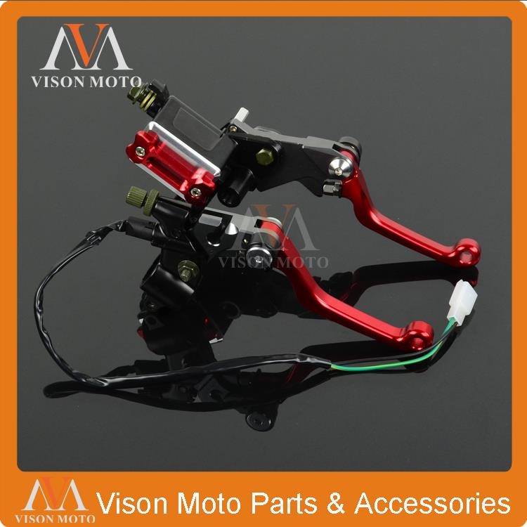 CNC Brake Lever Master Cylinder + Cable Clutch Perch For Honda CR125 CR250 CRF250R CRF450R CRF250X CRF450X CR CRF Dirt Bike MX cnc for honda crf250l 2012 2013 2014 2015 motorcycle brake clutch levers orange dirt bike pivot lever crf 250l crf 250 l