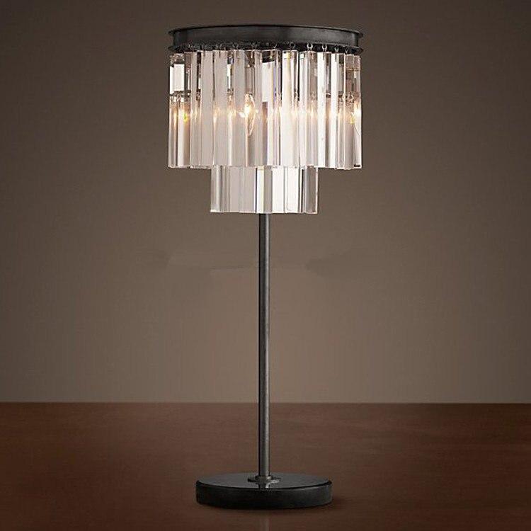 Modern Crystal Table Lamp Desk Light Bedside Side: Aliexpress.com : Buy Crystal Table Lamp Desk Vintage Black