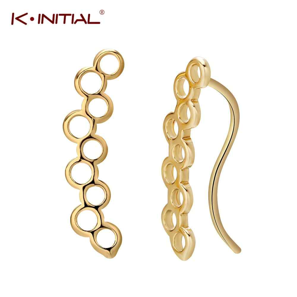 Kinitial Simple Geometric Round Bee Hive Earrings for Women Girl Cute Honeycomb Shape Earring Bridesmaid Wholesale Accessories