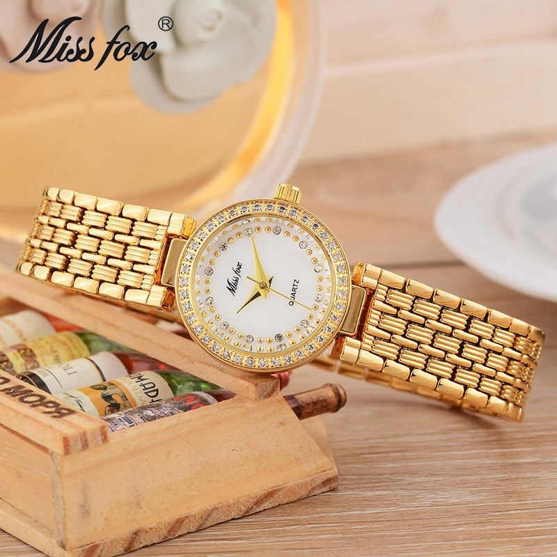 Miss fox new pen watch female watch top brand waterproof quartz watch ladies luxury watch woman gold strip bracelet watch светодиодная лампа 10 cree xlamp xml xm l t6 u2 10w 20 diy
