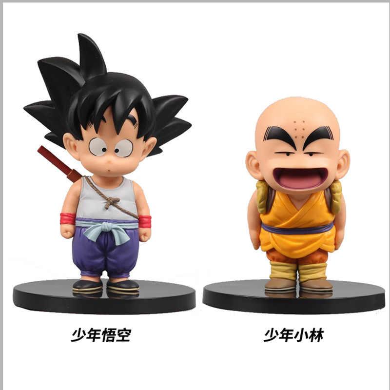 12 см Dragon Ball Z фигурки Son Goku Krillin Мастер Роши фигурка, Игрушечная модель куклы ПВХ Фигурки забавные выражения