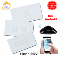 Broadlink TC2 New Arrival Smart Home RF Touch Light Switches 2Gang 110V 220V Remote Control Wall