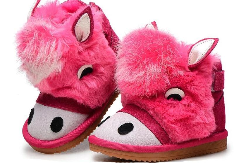 e26625949 ليتل بنات أحذية الجلد المدبوغ جلد طبيعي الشتاء الأحذية للأطفال جديد SandQ  طفل أحذية الاطفال الدافئة الفتيان الأحذية لطيف حمار