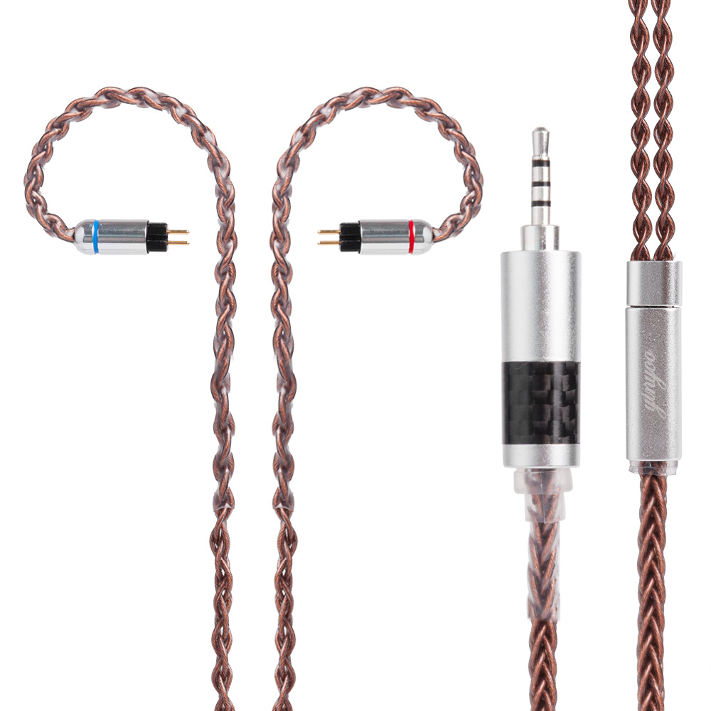 8 Shares MMCX Cable for Shure SE215 SE535 SE846 2 pin for ZS10 ZST ZAR ES4 ZS6 Earphone  3.5mm 2.5mm 4.4mm Balance Cable