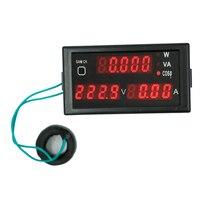 DL69 2048 Multifunctional Digital Display LCD Voltmeter Ammeter Voltage Current Power Meter AC80 300V 40