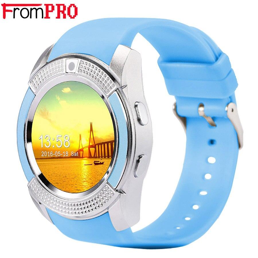 imágenes para FROMPRO V8 Reloj Inteligente Reloj Con Ranura Para Tarjeta Sim TF Conectividad Bluetooth para Apple iPhone Android Teléfono Smartwatch reloj