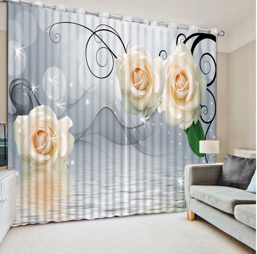 3D Curtains Window Curtain Living Room Flower Smog In Water Fabric Curtains Printed Curtain Home Bedroom Decoration3D Curtains Window Curtain Living Room Flower Smog In Water Fabric Curtains Printed Curtain Home Bedroom Decoration