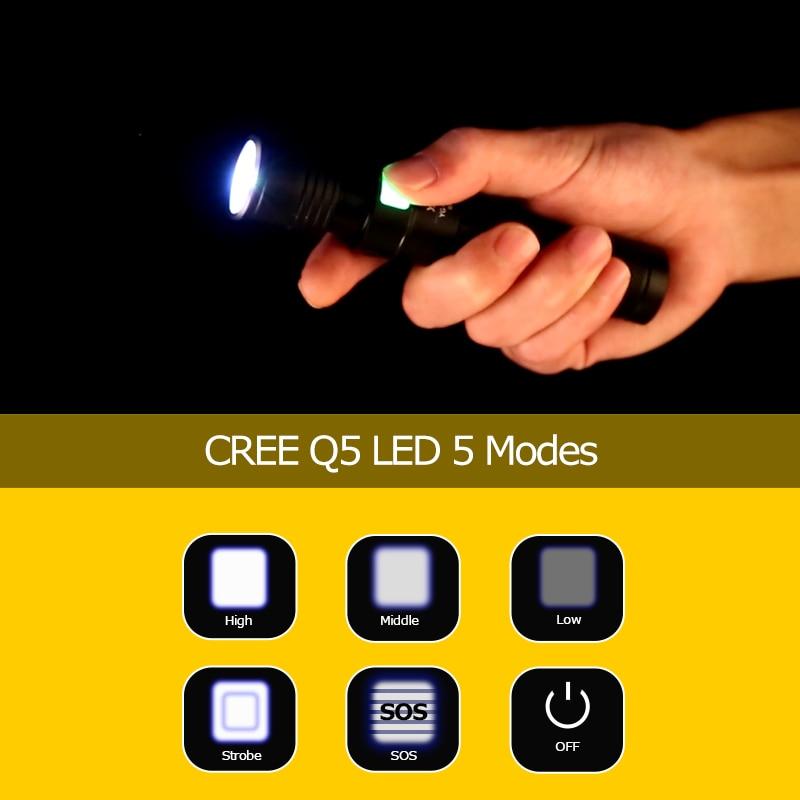 Lampe torche USB rechargeable puissante Baton télescopique USB lampe - Éclairage portable - Photo 5