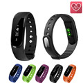 ID101 Bluetooth Smart Band OLED Heart Rate Monitor Fitness Tracker Smart Bracelet Music Control Smart Wristband ID107 Upgraded