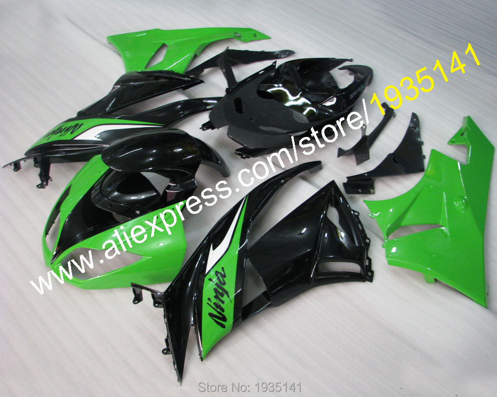 Hot Sales,For Kawasaki fairing ZX-6R Ninja 2009 2010 2011 2012 ZX6R 09 10 11 12 green black Cowling ZX6 636 (Injection molding) hot sales for kawasaki ninja kit zx6r 09 10 11 12 zx 6r 636 zx636 2009 2012 zx 6r motorcycle fairings parts injection molding