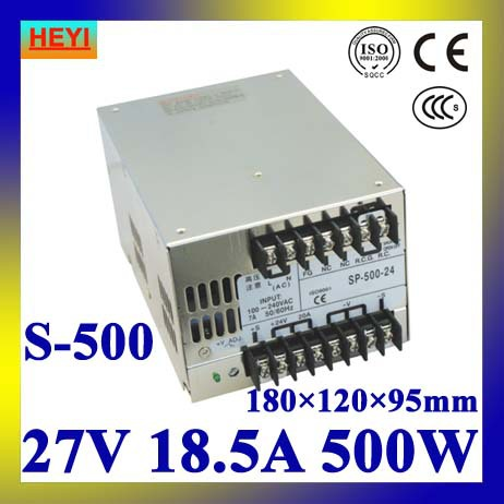 LED power supply  27V 18.5A 100~120V/200~240V AC input single output switching power supply 500W 27V transformer led power supply 27v 13a 100 120v 200 240v ac input single output switching power supply 350w 27v transformer
