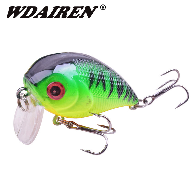 1Pcs Crank Fishing Lure 4.5cm 6.6g Swimbait wobbler Artificial Hard Crazy bait Bass Crankbait Lures Pesca fishing Tackle  WD-424