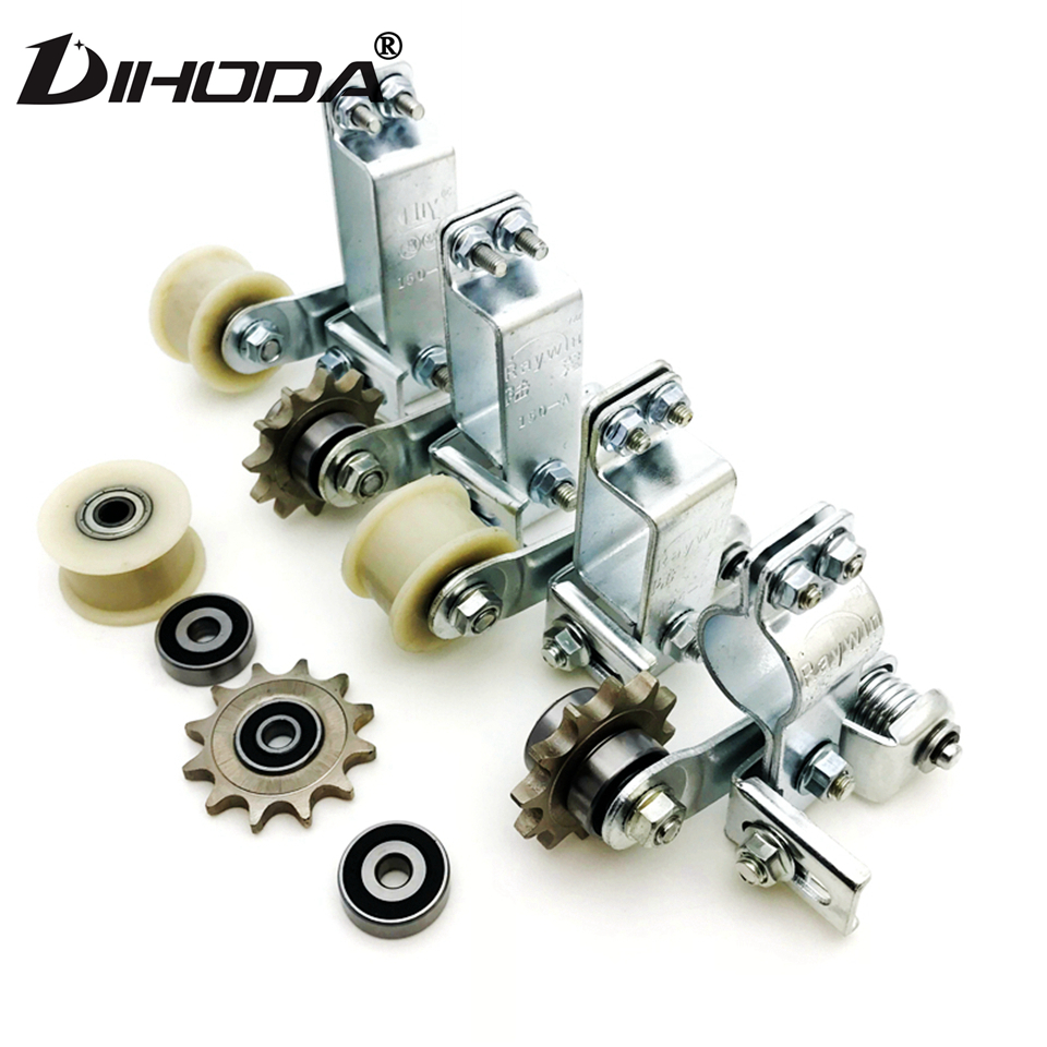 Universal Gear / Plastic wheel Motorcycle Chain Tensioner Bolt On Roller Chain Adjuster Automatic Motocross Refit Racing
