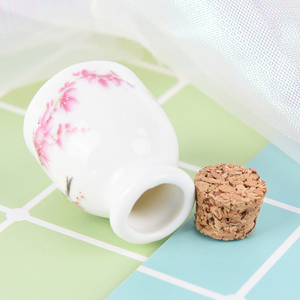 Image 5 - DIY Nail Art Tools Peony/Magpie Mini Ceramic Glass Dappen Dish Bowl Cup With Wood Lid Acrylic Liquid Glitter Powder Bottle