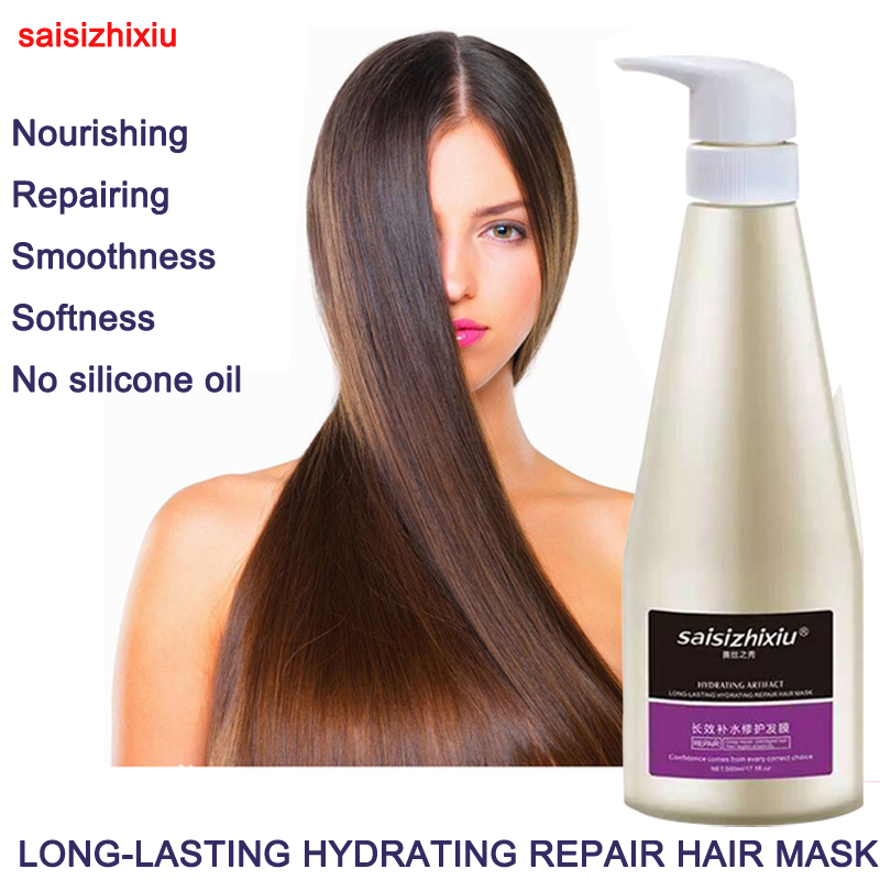 ФОТО 500ml Nourishing LONG-LASTING HYDRATING ARTIFACT REPAIR HAIR MASK for dry hair and damaged hair no silicone oil