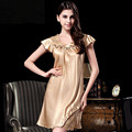 2016 new 100% silk female silk nightgown