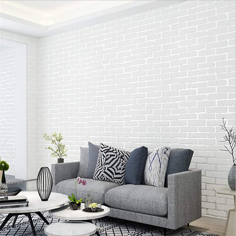 beibehang Modern simple self-adhesive non-woven white brick wallpaper clothing store restaurants hotel simulation brick wall beibehang simple fashion clothing store hotel barber shop brick wall paper beauty salon cafe style brick pattern 3d wallpaper