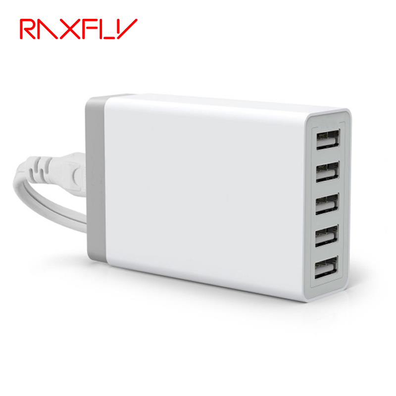 RAXFLY 5 Ports Wall USB Charger Adapter s
