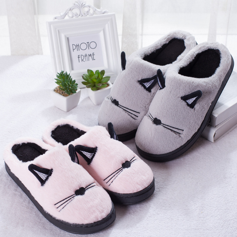 Fluffy Cat Ear Slippers at The Great Cat Store