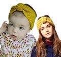 Inverno Knit Headband estilo pai-filho Mulheres crianças Quente Crochet Envoltório da cabeça atada Cabelo Banda 2 pçs/set