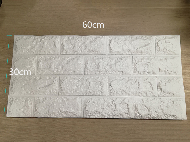 3D настенные наклейки имитация кирпича Декор для спальни водонепроницаемые самоклеящиеся обои для гостиной кухни ТВ фон Декор - Цвет: White 60x30cm