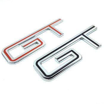 Metal Chrome plated G-T Emblem Badge Sticker