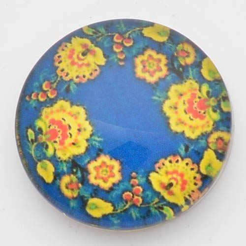 Flor de 18mm botones a presión, impresión y cubierta de vidrio broches para broches de presión pulseras fit jengibre broches joyería NC1796