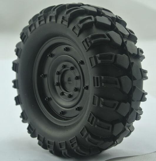 4 Precise 90mm 1.9 Tires+wheels Fit Cross 4wd 8x8 6x6 Rcds2 Scx10 Tamiya Scx10 Wraith Jeep Hex 12mm Gelande Ii Cruiser/fj40 G2 Crawler Vivid And Great In Style