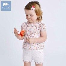 Dave bella, conjuntos de ropa de verano para bebés, encantadores trajes florales para niños pequeños, ropa de alta calidad para niñas, atuendo DBA6585