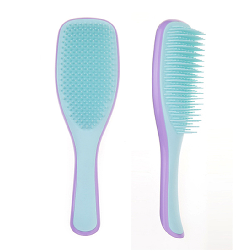 Image 5 - 1Pc Anti static Hair Brush Comb Styling Teezer Shower Electroplate Detangling Massage Combs for Salon Styling Women Girls Hair-in Combs from Beauty & Health