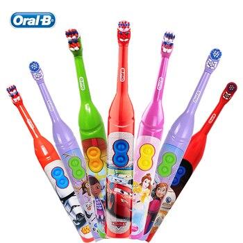 Oral B Kinder Elektrische Zahnbürste DB3010 für Kinder Alter 3 + Weiche DuPont Borsten 7200 Mal Rotation/Min Dual sauber AA Batterie