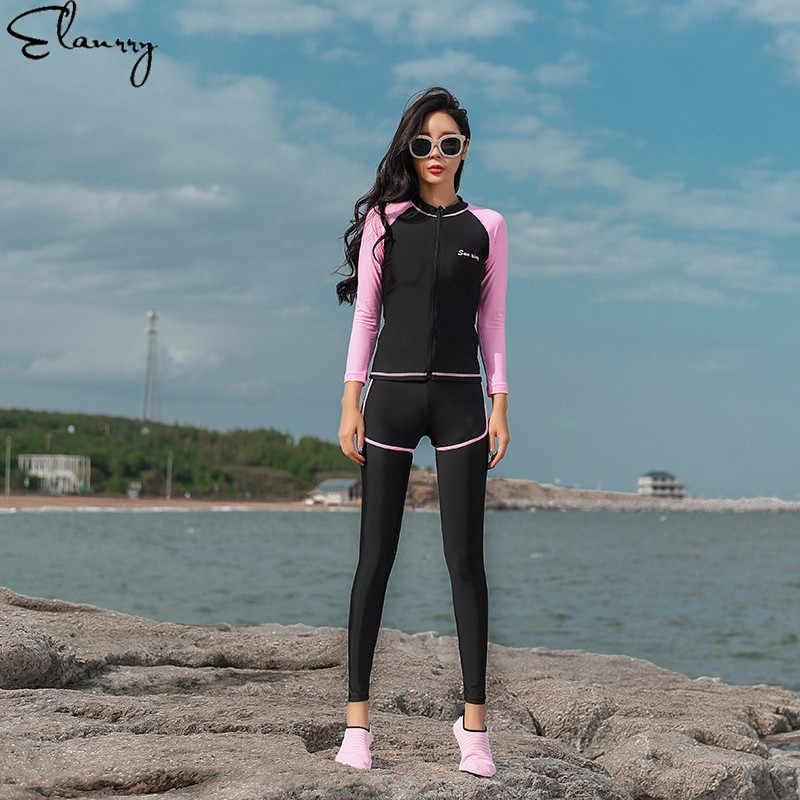2019 купальный костюм с длинным рукавом купальный костюм женский купальный костюм ретро купальный костюм Rashguards 5 шт. Серфинг Пляжные Купальники одежда боди