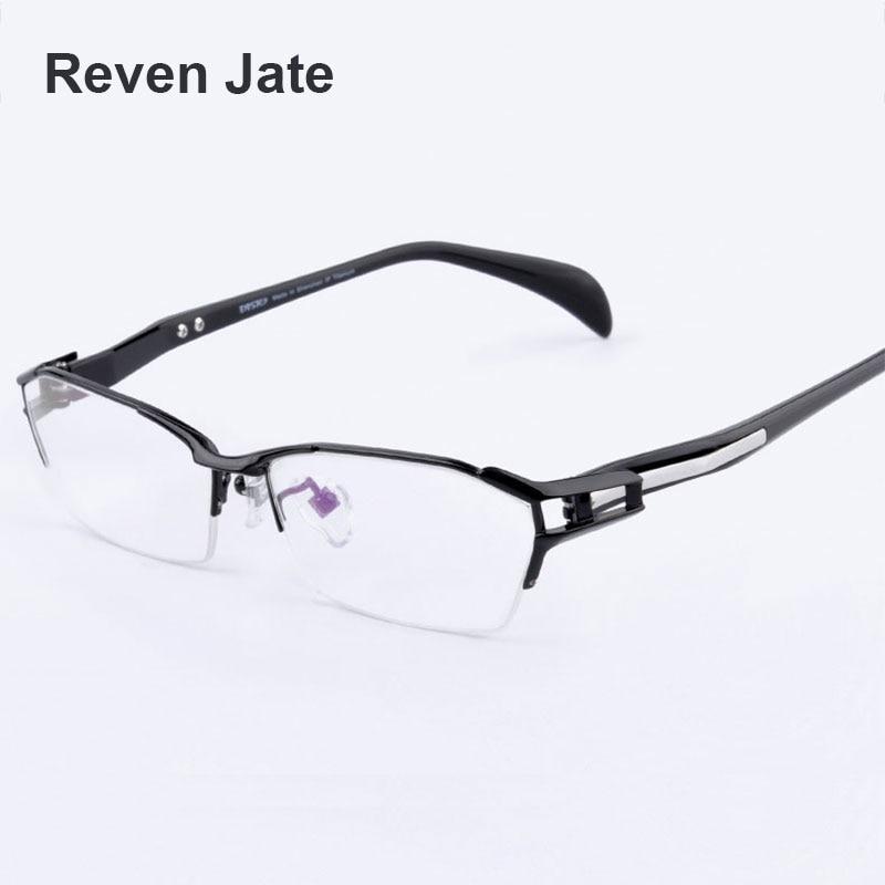 Reven Jate EJ1174 Fashion Men Eyeglasses Frame Ultra Light weighted Flexible IP Electronic Plating Metal Material
