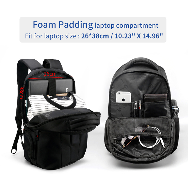 Tigernu Brand Waterproof 15.6inch Laptop Backpack NO Key TSA Anti Theft Men Backpacks