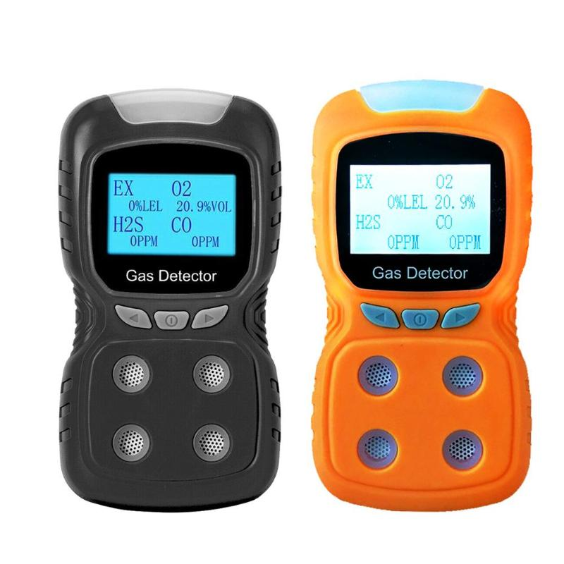 LCD 4 in 1 Gas Detector EX/O2/H2S/CO Carbon Monoxide Gas Analyzer DetectorLCD 4 in 1 Gas Detector EX/O2/H2S/CO Carbon Monoxide Gas Analyzer Detector
