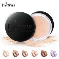 Naras Brand Loose Powder Professional Face Powders Palette Cosmetic Long Lasting Oil Control Matte Powder White