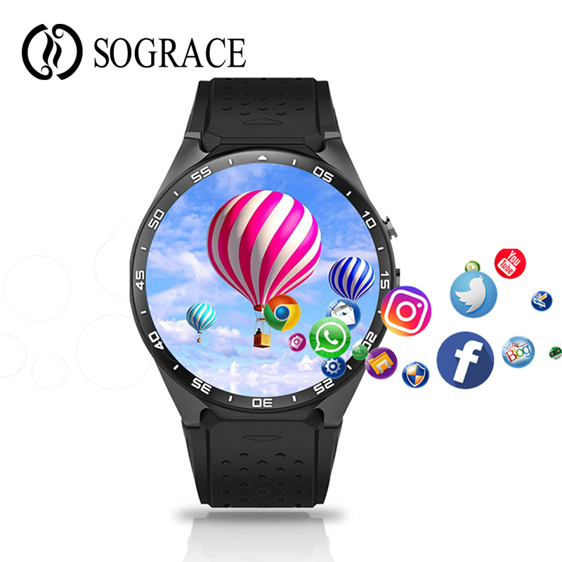 Original KW88 3G WIFI GPS Bluetooth Smart Watch Android 5.1 1.39&#8221; Screen 2.0MP Camera Smartwatch <font><b>Phone</b></font> For Iphone Huawei