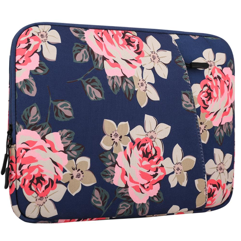MoKo 13-13.5 Inch Canvas Sleeve Bag, Protective Carrying Briefcase Handbag Cover for MacBook Air 13 /MacBook Pro 13(2015/2016) image