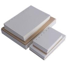 Квадратная сетка горизонтальная линия решетки пустые TODO Бумаги A5/A6/A7 6 отверстий тетрадь заправка внутренний ядро 45 листов