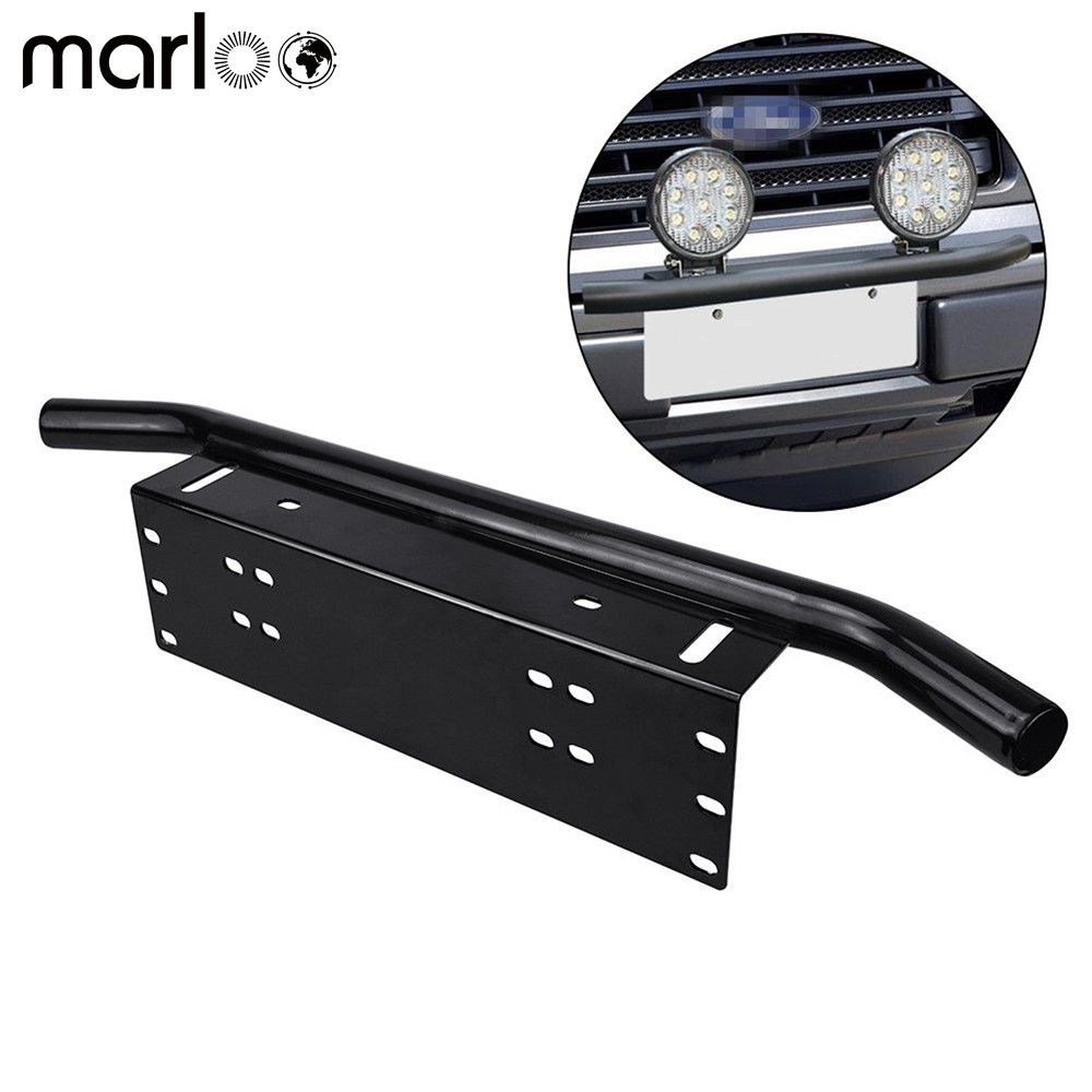Marloo chrome offroad light led light bar autos bull bar front marloo chrome offroad light led light bar autos bull bar front bumper license plate mount headlight bracket holder for jeep in car light accessories from aloadofball Images