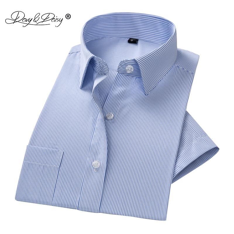 DAVYDAISY 2019 New Arrival Summer Men's Shirt Short Sleeve Solid Man Dress Shirt Slim Fit Men Brand Clothing Man Shirts DS237