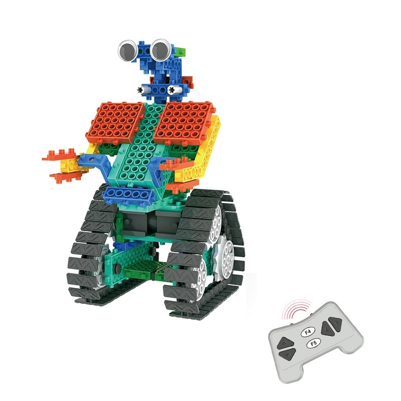 RC Robot Kit DIY Building Blocks Compatible All Brands Bricks Remote Control Robot RC Block Technic STEM Education Toy for Kids
