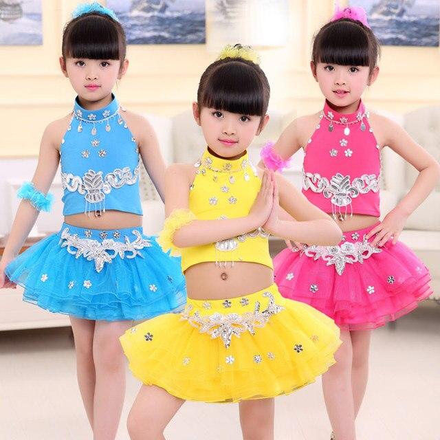 3f9f6fca1f Children Dance Performances Wear Latin Jazz Modern Dance Costume for Kids