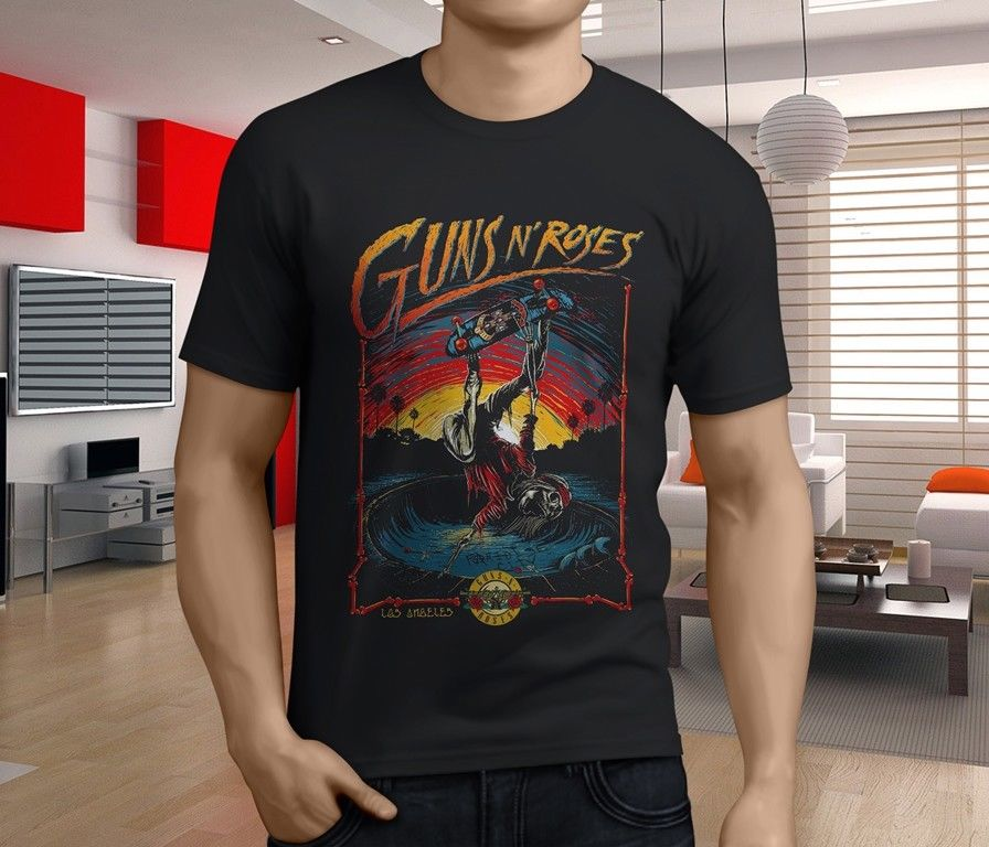 New Popular Guns N Roses Men S Black T Shirt S 3Xl ...