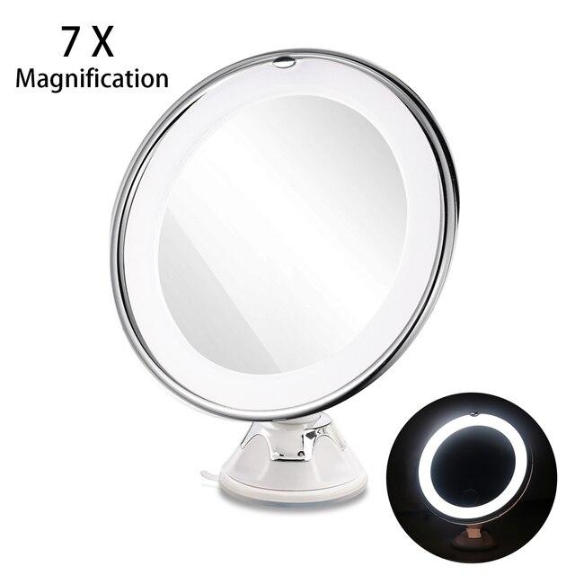 Ruimio 7X увеличительное зеркало косметическое зеркало с замок присоски яркий рассеянный свет 360 градусов вращающийся