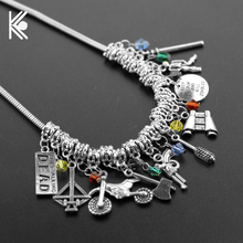The walking dead choker necklace Bow And Arrow crystal beads Charm Necklaces & Pendants For Women Birthday Gift Free Shipping
