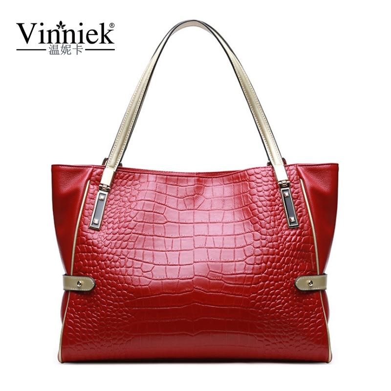 Very Large Alligator Genuine Leather Women Bags Luxury Messeng Bags Famous Brands Handbags Female Casual Tote Black Shoulder Bag