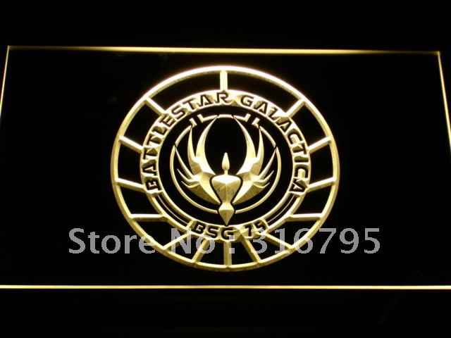 e047 Battlestar Galactica LED Neon Sign with On/Off Switch 20+ Colors 5 Sizes to choose