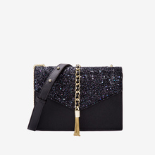 2019 Sequin Tassel Party Clutch Gold Chain Girls Crossbody Messenger Bags Fashion Ladies Flap Bag Designer Handbags Women's sequin everning clutch bag for party acrylics flap bag with metal china women clutch bling eye crossbody bag sequin bag