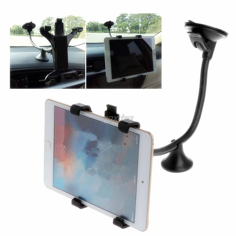 7 8 9 9.7 10 11 inch Tablet PC Stand Long Arm Tablet Car windshield Mount Holder Stand for Ipad 2 3 4 ipad air 9.7 Ipad Pro aluminum tablet pc stand holder for ipad pro ipad new 2018 air 2 mini 4 surface pro 4 3 docking station cradle anti skid silver